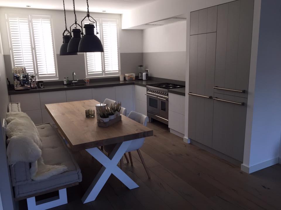 Keuken met blauw accent